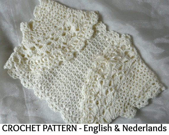 English Dutch Crochet Pattern Romantic Bolero 0 24 Months Etsy