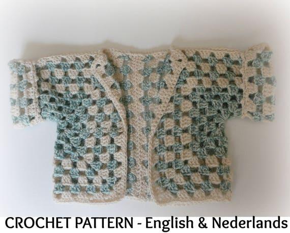 Engels Nederlands Haakpatroon Baby Bolero Hexagon 3 24 Etsy
