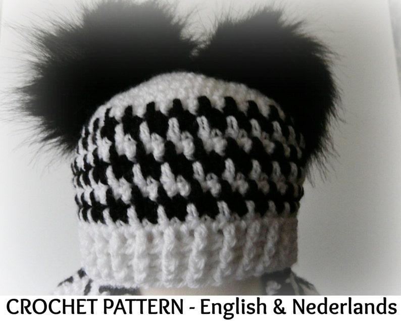 Winter Baby Beanie Pepita   0-24  months English Dutch Pattern