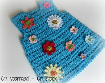 Crocheted Baby Dress Flower Power