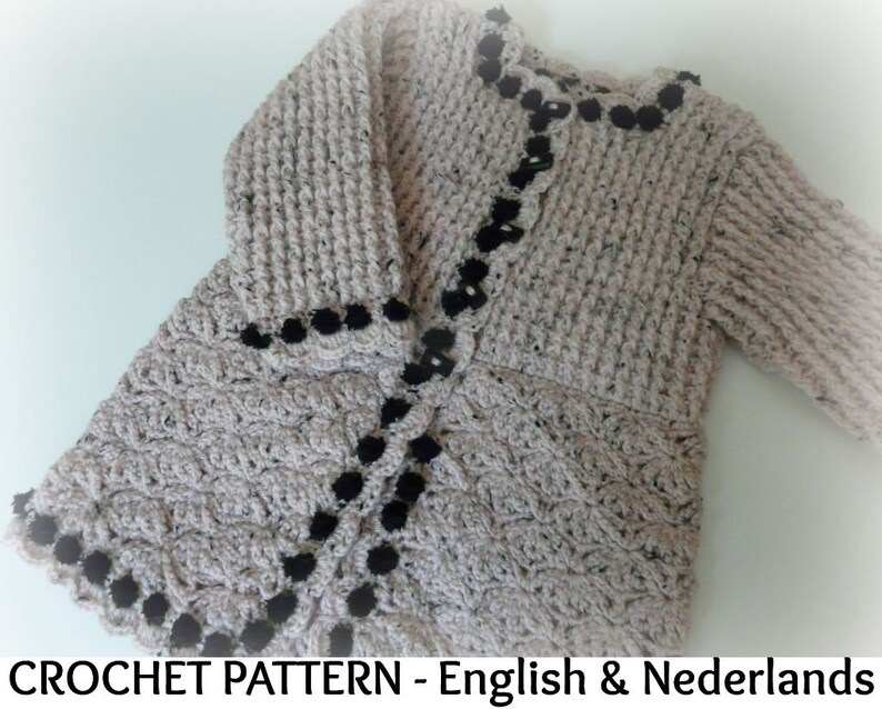 a57faae86958b English Dutch Crochet Pattern Baby Coat   Cardigan Charlotte