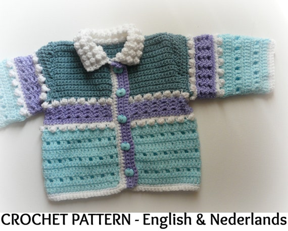 Engels Nederlands Haakpatroon Baby Vest Snowball 0 18 Mnd Etsy