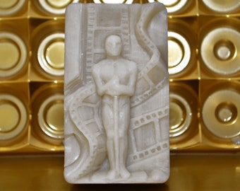 OSCAR STATUE SILICONE mold flexible for soap making, clay, wax, plaster, 5 oz, movie theme , food grade version avaiable,