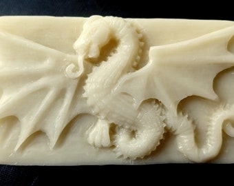 DRAGON SOAP MOLD silicone mould soap bar winter is coming  plaster clay wax resin monster 5oz
