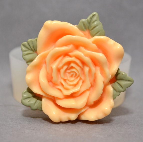 wax Silicone Mould plaster resin polymer clay mold FLOWER ROSE food use