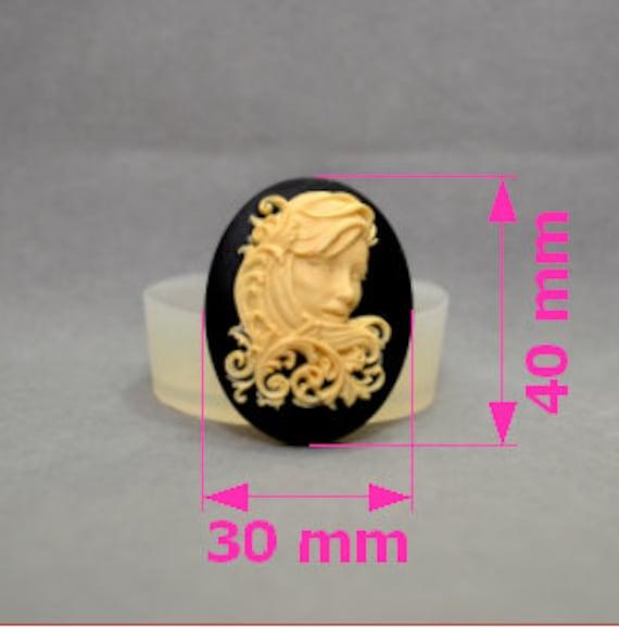 Lady Skull silicone mould snake sugarcraft polymer clay fimo reisn mold goth wax