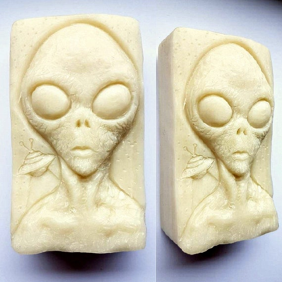 Alien Silicone Mold SOAP Wax Plaster Resin Clay Mould UFO ET X Files