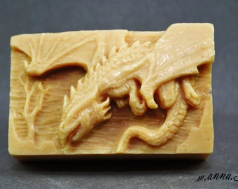 DRAGON SILICONE MOLD for soap making candle resin plaster wax game of thrones 5oz