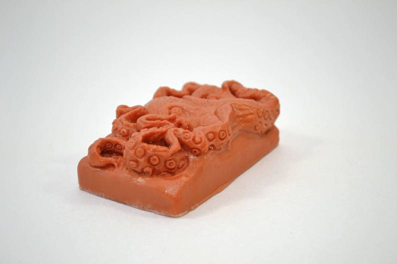 OCTOPUS SOAP SILICONE mold  bar mould 5,5oz   resin plaster chocolate wax icing