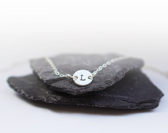 Sterling Silver Monogram Initial Necklace ~  delicate bridesmaid, wedding, best friend, birthday gift, womens gift, personalised, name