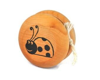 Wooden Ladybug Yo Yo - A Waldorf and Montessori Inspired Classic Toy (K)
