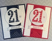 Happy 21st Birthday Greeting Card Stampin Up