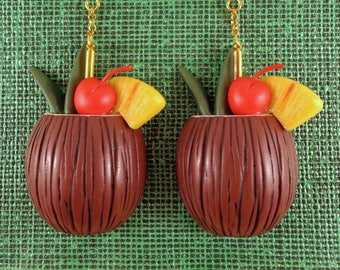 COCONUT COCKTAIL Earrings.