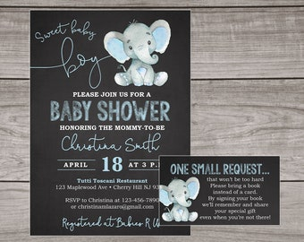 Elephant baby shower invitation etsy elephant baby shower invitation boy chalkboard baby shower invitations elephant baby shower invitations boy blue elephants baby 102 filmwisefo