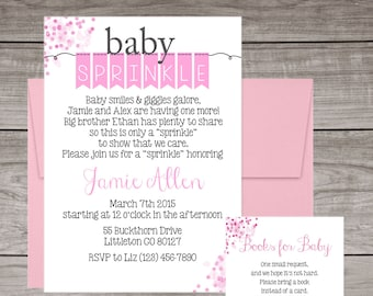 Girl Baby Sprinkle Invitations - Pink Baby Sprinkle Invitations - Baby Smiles & Giggles Galore - Baby-113