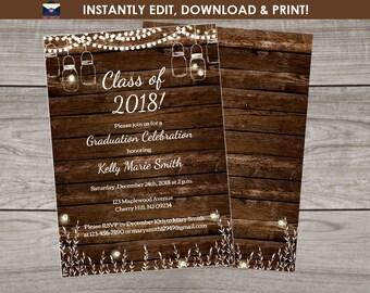 Rustic Graduation Party Template