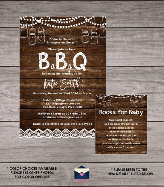BBQ Baby Shower Invitation Backyard Babyq Baby Shower | Etsy