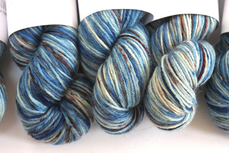 DK  100% British Bluefaced Leicester superwash yarn Ocean image 0