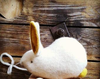 Pull along rabbit toy