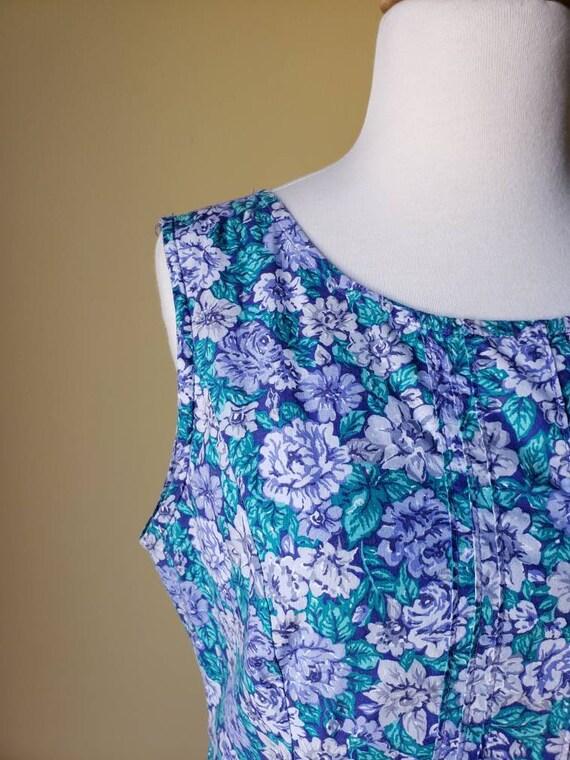 Vintage 90s Laura Ashley drop waist floral dress/… - image 4