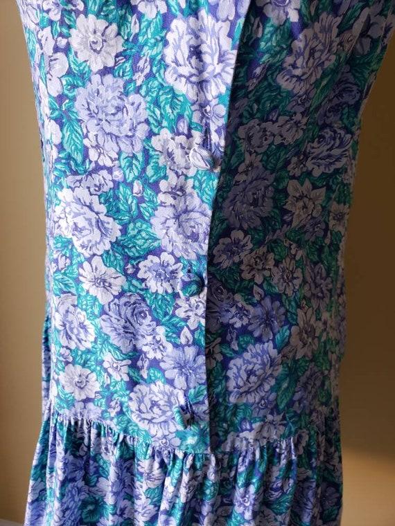 Vintage 90s Laura Ashley drop waist floral dress/… - image 5