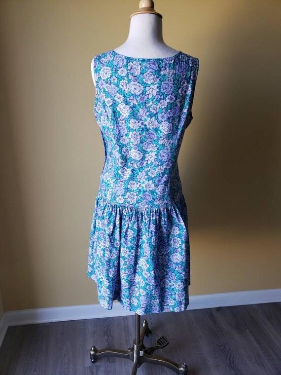 Vintage 90s Laura Ashley drop waist floral dress/… - image 7