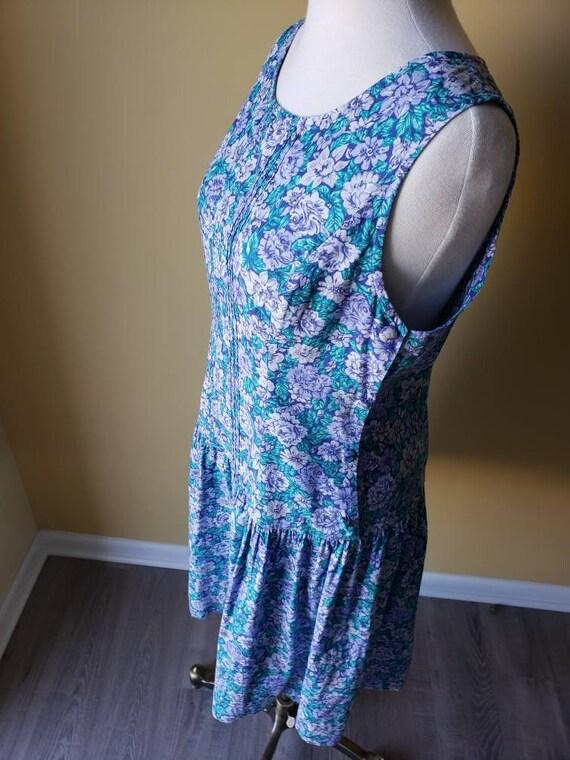Vintage 90s Laura Ashley drop waist floral dress/… - image 3