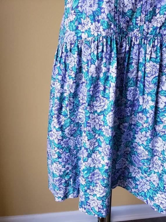 Vintage 90s Laura Ashley drop waist floral dress/… - image 6