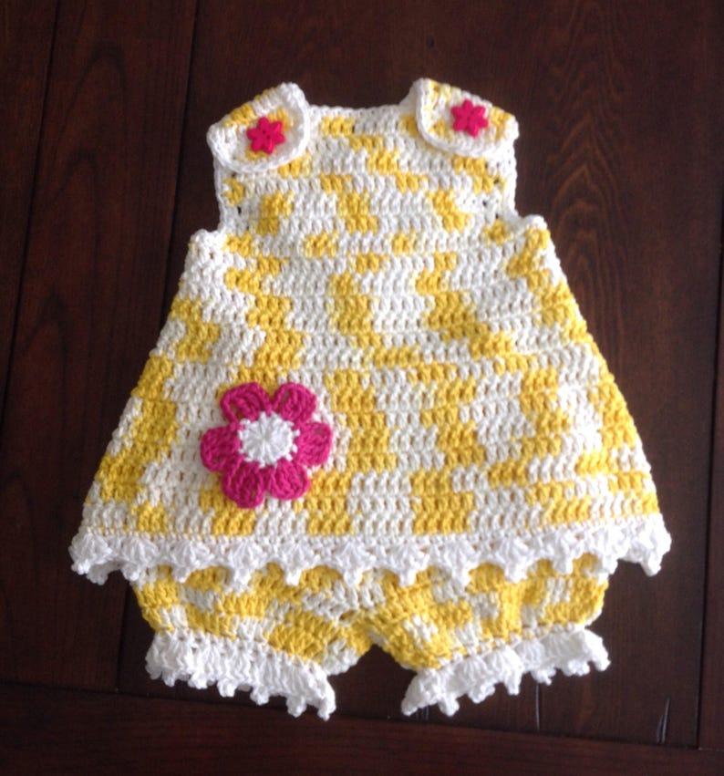 Crochet Sunsuit 18-24 Mth PATTERN Lauren