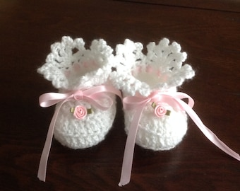 Newborn Baby Girl Booties PATTERN