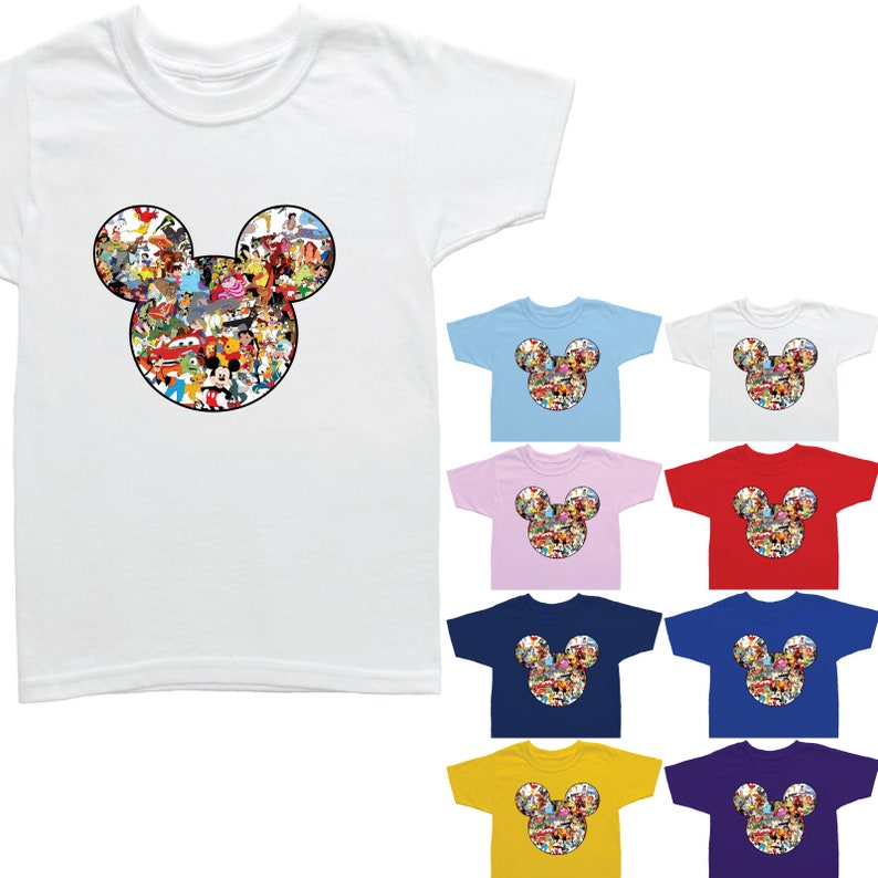 a4e899cce853b1 Mickey Mouse hoofd silhouet Disney personages jongens meisjes image 0 ...