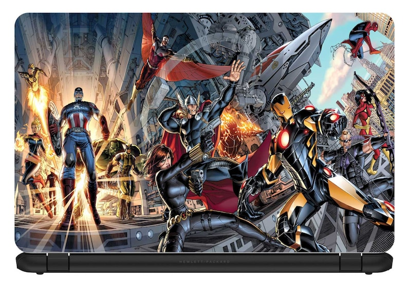 15.6 inch Avengers-Laptop Vinyl Skin//Decal//Sticker-Protection Cover-LC008