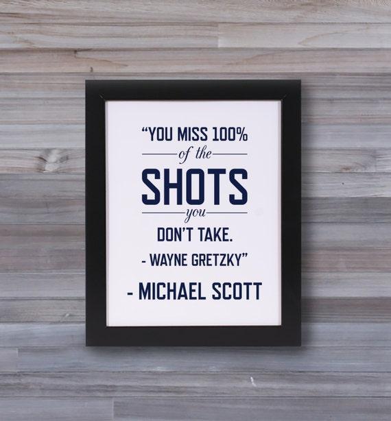 Michael Scott Quote The Office Wayne Gretzky Quote Etsy Unique Michael Scott Wayne Gretzky Quote