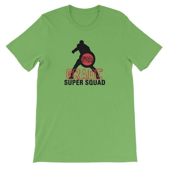 5ème manches grade professeur Super Squad Super héros T-Shirt manches 5ème courtes unisexe 71b928