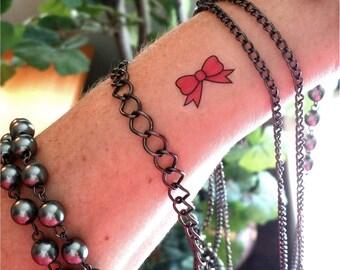 77e650ebb Tiny pink bow temporary tattoos fake tattoos small tattoos bow tattoo