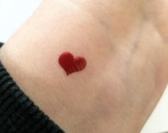 68469964c tiny heart tattoo, valentine heart, small tattoos, temporary tattoos, set  of 20