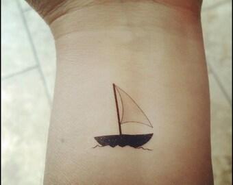 Boat Tattoo Etsy