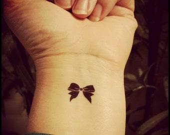 3646cb8e4 tiny bow tattoos set of 4 temporary tattoos fake tattoos