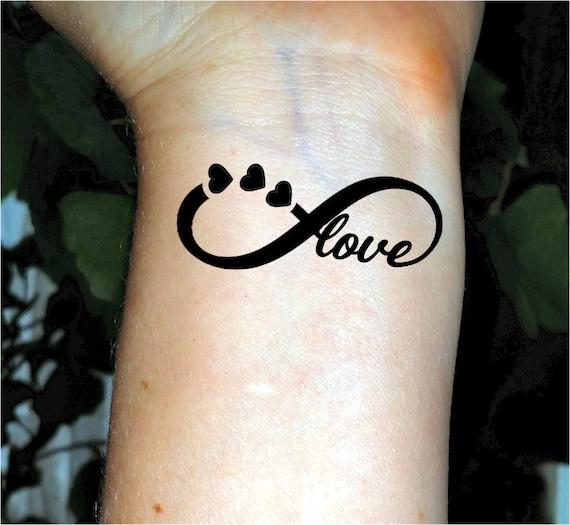 Infini Tatouage Temporaire Tattoo Love Tattoo Coeur Tatouages Etsy