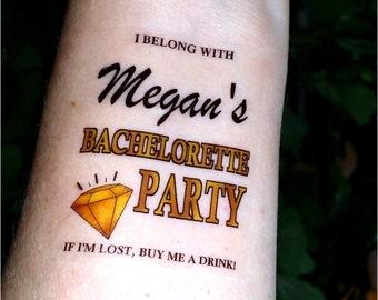 Bachelorette tattoo Bachelorette party tattoos temporary tattoos fake tattoos custom tattoos