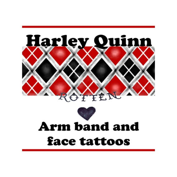 Harley Quinn tattoos Arm band tattoo rotten tattoo heart | Etsy