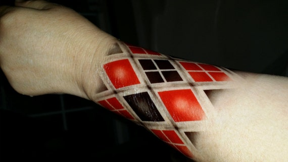 Harley Quinn Temporary Tattoos Cosplay Tattoos Suicide Squad Temporary Tattoos Halloween Costume Joker Tattoo