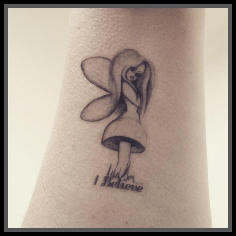 Tymczasowy Tatuaż Uważam Grzyb Bajki Fałszywy Tatuaż Body Art Wir Bajki Tatuaż