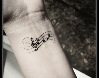 Music note tattoo Temporary tattoos music tattoos