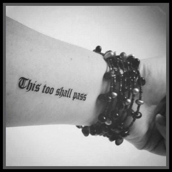 Cytat Tatuaż Tymczasowy Tattoo Fake Tattoo Cytat Tatuaż To Też Etsy