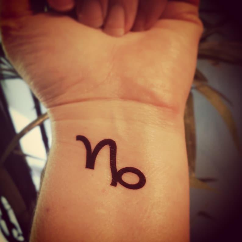 Zodiac Tattoo Tatuaż Tymczasowy Tatuaż Fałszywy Tattoo Horoskop Tatuaż Miesiąc Urodzenia Tatuaż