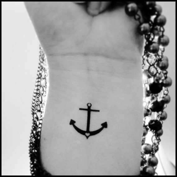 Kotwica Tymczasowy Tatuaż Fałszywy Tatuaż Tatuaże Morskie