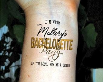 Bachelorette Party tattoos  Bachelorette tattoos gold bachelorette temporary tattoos Custom Bachelorette tattoos temporary tattoo