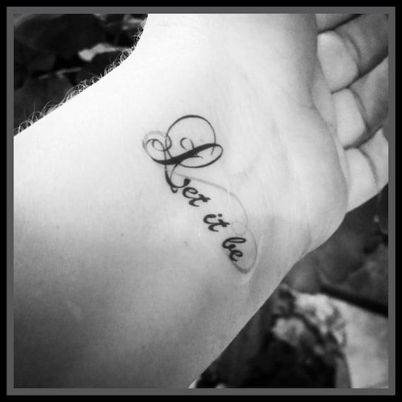 Cytat Tatuaż Tymczasowy Tatuaże Zestaw 2 Cytat Tatuaże Inspirujące Tatuaże Body Art Fałszywe Tatuaże Niech Będzie