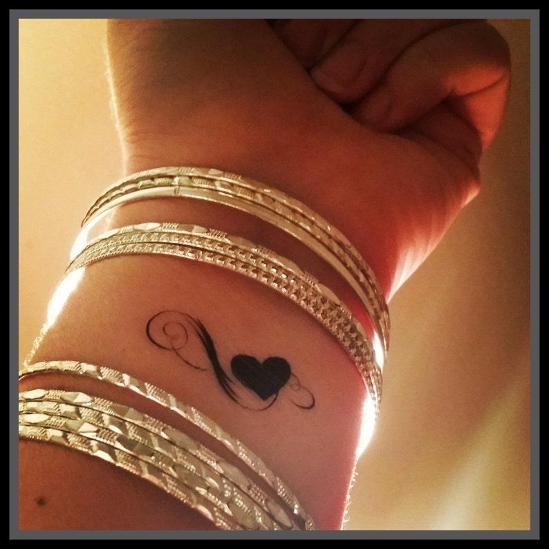 Coeur Faux Tatouage Infini Coeur Tatouage Tatouages Etsy